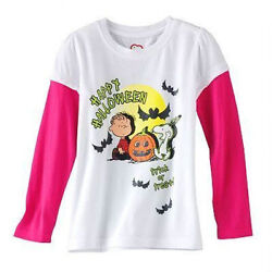 NWT ☀SNOOPY☀ Girls LONG SLEEVE t shirt HALLOWEEN PEANUTS New SIZE 5 or 6 $9.99