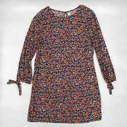 Old Navy Women#x27;s Floral Dress 3 4 Sleeve Size L $15.00