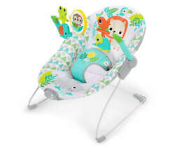 Bright Starts Spinnin' Safari Vibrating Baby Bouncer 12208 $29.00