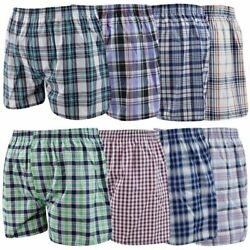 Mens Big Mens Woven Boxer Shorts 5Pack 10Pack First Quality Assorted 3XL $14.49
