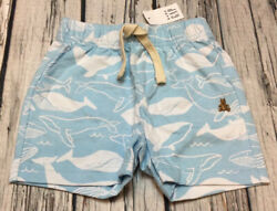 Baby Gap Boys 12 18 Months Blue Whale Shorts. Nwt $13.99