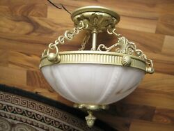 Murray Feiss Pasquale Miranda Solid Brass and Alabaster Celling Fixture $220.00
