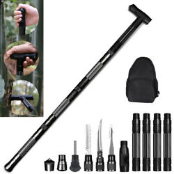 Multifunction Tactical Walking Trekking Poles Defense Hiking Stick Alpenstock $76.99