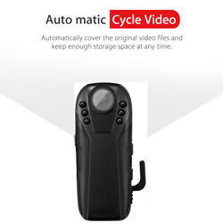 1080P Full HD Infrared Night Vision Small Camera Police Camcorder Cam Wide Angle $30.98