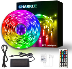 Led Strip Lights 25Ft Charkee Led Lights Rgb Color Changing Light With Remote