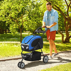 Dog Stroller 5 in 1 with Brakes Carrier Bag Mesh Windows for Small Animals $139.99