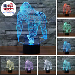 3D illusion LOVE series 7 Color Visual Night Light LED Desk Table Bedroom Lamps $23.00