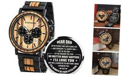 Mens Personalized Engraved Wooden Watches Stylish A For Dad From Daughter $79.15