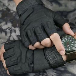 Military Tactical Gloves Half Fingerless Cycling Motorcycle Gloves for Men US $10.89