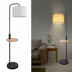 Modern Floor Lamp with Table LED Minimalist Floor Lamp with USB Ports AC Outl... $114.99