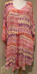 WOMAN WITHIN Womens Swimsuit Bathing Suit Cover Up Dress Sz 1X 22 24 $21.95