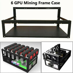 6 8 GPU Bracket for BTC ETH LTC Open Air Mining Rig Equipment Computer Frame USA $109.99