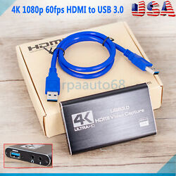 4K 1080p HDMI to USB 3.0 Video Capture Card Game Live Stream For Nintendo Switch $26.45