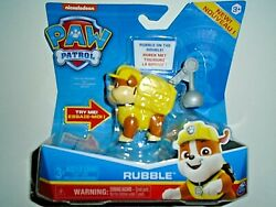 Nickelodeon Paw Patrol Rubble w Pup Pack amp; Phrases quot;NEWquot; $14.00
