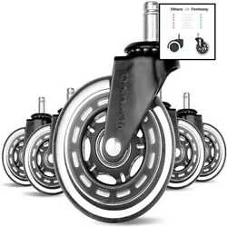 Office Chair Caster 3#x27;#x27; Wheels Hardwood Floor Replacement Set Of 5 Gaming Swivel $25.33