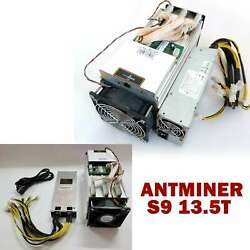 BTC Miner AntMiner S9 13.5T With BITMAIN Power Supply Bitcoin Miner NEW $899.00