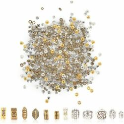 Rondelle Spacer Beads for DIY Jewelry Making 12 Styles 2 Colors 600 Pieces $11.29