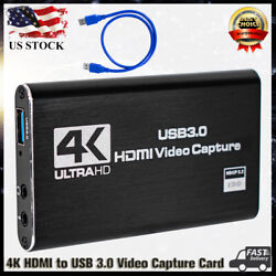 For Nintendo Switch 4K 1080p HDMI to USB 3.0 Video Capture Card Game Live Stream $27.99