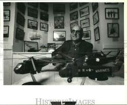 1992 Press Photo Lewis G. Knapp with Model Helicopters for Museum in Stratford $22.88