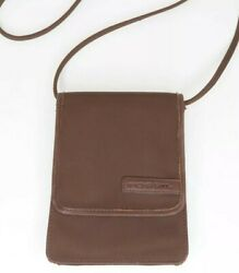 Vintage FOSSIL Crossbody Purse Small With Belt Slide Brown with Leather Trim $19.99