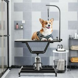 Hydraulic Pet Grooming Table Heavy Duty Professional Dog Drying Table With Clamp $98.99