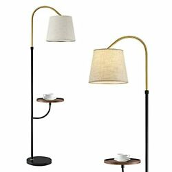 """OYEARS Modern Floor Lamp with Table for Living Room 66.5"""" Minimalist Tray Floor $108.26"""