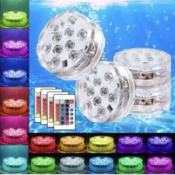 4Pcs Magnet Submersible LED Lights with RF Remote