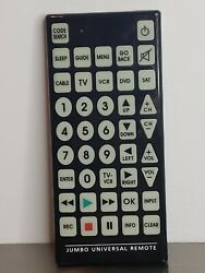 Jumbo Universal Remote TV VCR DVD SAT Cable Control Big Button Remote Large $14.99