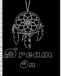 Bedroom wall decal DREAM ON $8.00