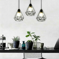 Vintage Metal Cage Industrial Wire Frame Pendant Light Ceiling Lamp Shade Newly $13.29