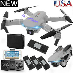 Dual Camera Drone WIFI FPV 4K HD Foldable Wide Angle Selfie RC Quadcopter Toys $58.99