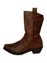 Harley Davidson Boots 85123 Brown Leather Studded Harley Boots Women's 6.5M $79.99