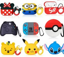 3D Cute Cartoon Airpods Silicone Case for Apple Airpod 1 2 amp; Pro Accessories $9.99