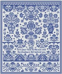10% Off Long Dog Samplers Counted X stitch chart Pavane For These Times $17.55