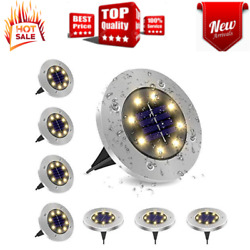 8 Pack Solar Ground Lights8 LED Bulbs Bright Right Outdoor LightsWaterproof $29.29