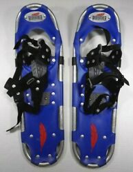 Redfeather Showshoes Blue Adult Used Worn Large Hiking Winter Snow Shoes Feather $29.99