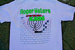 VINTAGE ROGER WATERS AFTER THE WALL KAOS TOUR CONCERT T SHIRT XXL 80#x27;S ROCK $198.00