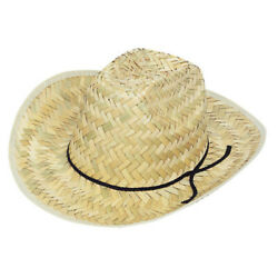 NOVELTY HIGH CROWN WESTERN STRAW HAT Party Supplies Favors Attire Costumes $10.00