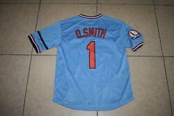 New Ozzie SmithSt. Louis Cardinals Blue Pull Over Baseball Jersey Adult Large $39.00