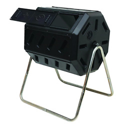 Tumbling Composter Two Chambers Efficient Batch Composting Kitchen Yard Waste $90.04