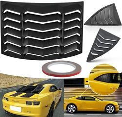 Rear amp; Side Window Windshield Louvers Fit for Chevrolet Chevy Camaro 2010 2015 $194.99