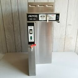 FETCO CBS 51H Commercial Single Automatic 1.5 Gal Coffee Brewer w Hot Water Pipe $199.95