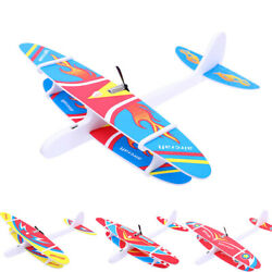 Hand Throwing Glider Airplane Capacitor Electric Aircraft Foam Plane Outdoor Toy $6.08
