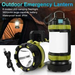 USB LED Lantern Rechargeable Light Camping Emergency Outdoor Hiking Lamps $19.21