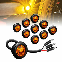 10pc3 4quot; Round DOT P2PC Amber Turn Signal LED Trailer Clearance Marker Light $22.95