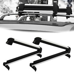 The new black ski rack made of aviation aluminum is easy to install and durable $86.99
