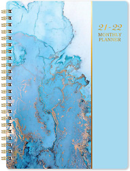 Task Planner 2021 2022 Monthly Diary 18 Month Thick Paper Blue Day Designer 360 $10.99