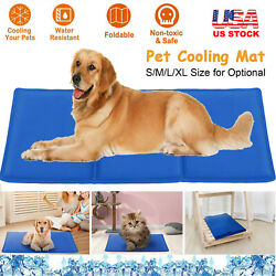 Pet Dog Cooling Mat Pressure Activated Gel Self Cooling Bed Summer Sleeping Pad $19.32