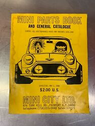 Mini Parts Book and General Catalogue. Used. B12 $45.00