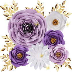 Paper Flowers Decorations for Wall Large 3D Artificial Fake Flower Wall Decors $25.99